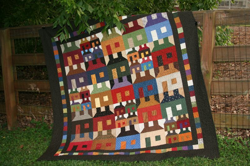 2012 log cabin quilts 056